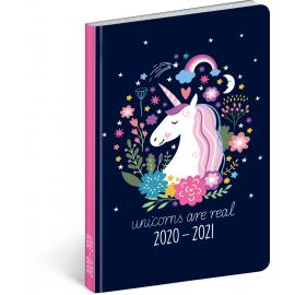18mesačný diár Petito – Jednorožec 2020/2021, 11 × 17 cm