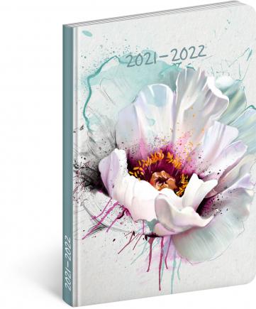 18mesačný diár Petito – Kvet 2021/2022, 11 × 17 cm