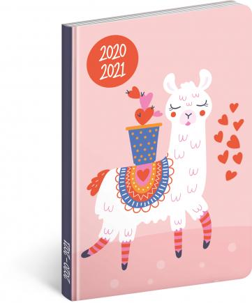 18mesačný diár Petito – Lama 2020/2021, 11 × 17 cm