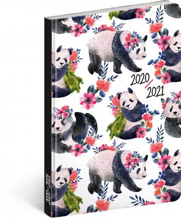18mesačný diár Petito – Pandy 2020/2021, 11 × 17 cm