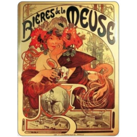 Tabuľka Alfons Mucha – Bieres, 30 x 40 cm