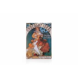 Tabuľka Alfons Mucha – Chocolat Ideal, 15 x 21 cm