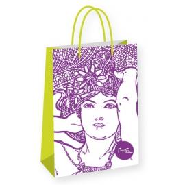 Darčeková taška Alfons Mucha – Amethyst, Fresh Collection, veľká