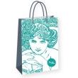 Darčeková taška Alfons Mucha – Emerald, Fresh Colletion, stredná