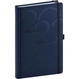 Denný diár Ajax 2022, modrý, 15 × 21 cm