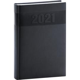 Denný diár Aprint 2021, čierny, 15 × 21 cm