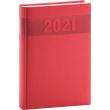 Denný diár Aprint 2021, červený, 15 × 21 cm