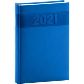 Denný diár Aprint 2021, modrý, 15 × 21 cm