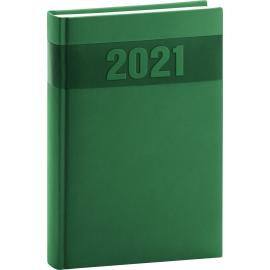Denný diár Aprint 2021, zelený, 15 × 21 cm