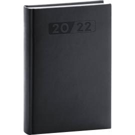 Denný diár Aprint 2022, čierny, 15 × 21 cm