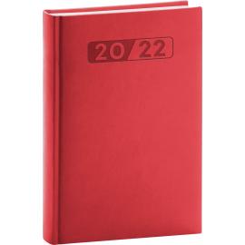 Denný diár Aprint 2022, červený, 15 × 21 cm