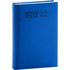 Denný diár Aprint 2022, modrý, 15 × 21 cm