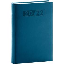 Denný diár Aprint 2022, petrolejovo modrý, 15 × 21 cm