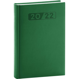 Denný diár Aprint 2022, zelený, 15 × 21 cm