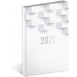 Denný diár Cambio Classic 2021, biely, 15 × 21 cm