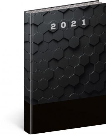 Denný diár Cambio Classic 2021, čierny, 15 × 21 cm