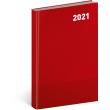 Denný diár Cambio Classic 2021, červený, 15 × 21 cm