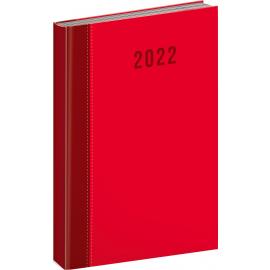 Denný diár Cambio Classic 2022, červený, 15 × 21 cm