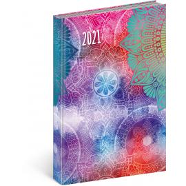 Denný diár Cambio Fun 2021, Mandala, 15 × 21 cm