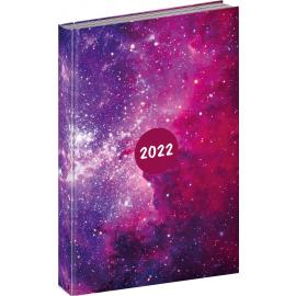 Denný diár Cambio Fun 2022, Galaxy, 15 × 21 cm