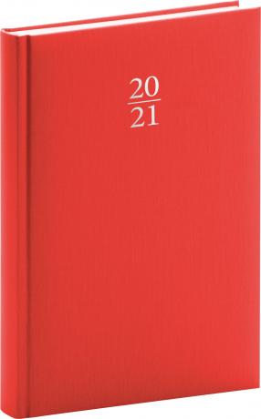 Denný diár Capys 2021, červený, 15 × 21 cm