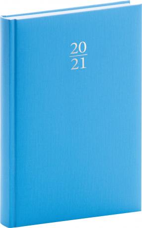 Denný diár Capys 2021, svetlomodrý, 15 × 21 cm