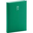 Denný diár Capys 2021, zelený, 15 × 21 cm