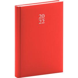 Denný diár Capys 2022, červený, 15 × 21 cm