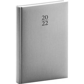 Denný diár Capys 2022, strieborný, 15 × 21 cm