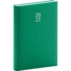 Denný diár Capys 2022, zelený, 15 × 21 cm