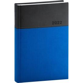 Denný diár Dado 2022, modro–čierny, 15 × 21 cm