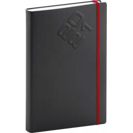 Denný diár Matra 2021, čierno-červený, 15 × 21 cm