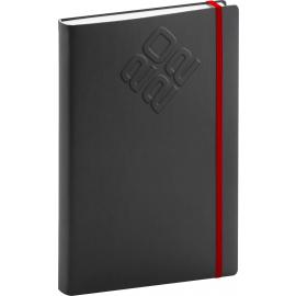 Denný diár Matra 2022, čierno–červený, 15 × 21 cm