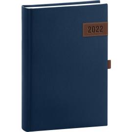 Denný diár Tarbes 2022, modrý, 15 × 21 cm