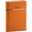 Denný diár Tomy oranžovo-čierny, 2021 15 × 21 cm