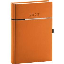 Denný diár Tomy oranžovo–čierny, 2022 15 × 21 cm