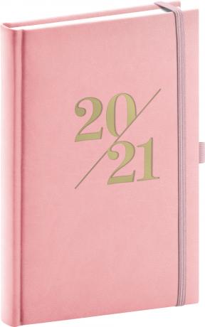Denný diár Vivella Fun 2021, ružový, 15 × 21 cm