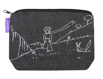 Denimové etui Malý princ (Le Petit Prince) - Black