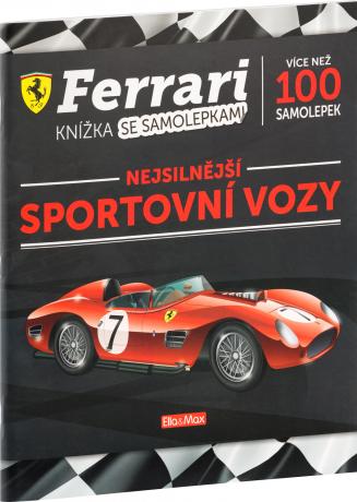 FERRARI, sportovní vozy – Kniha samolepek