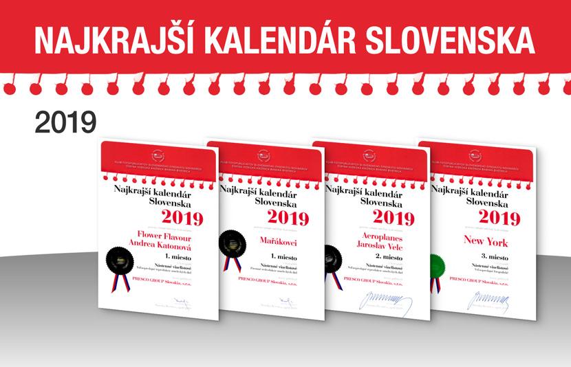 NAJKRAJŠÍ KALENDÁR SLOVENSKA 2019