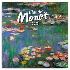 Poznámkový kalendár Claude Monet 2021, 30 × 30 cm