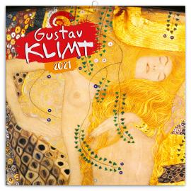 Poznámkový kalendár Gustav Klimt 2021, 30 × 30 cm