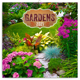 Poznámkový kalendár Záhrady 2021, 30 × 30 cm