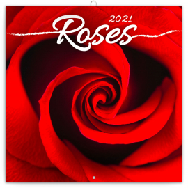 Poznámkový kalendár Ruže 2021, voňavý, 30 × 30 cm