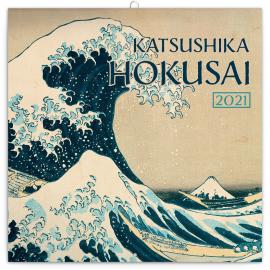 Poznámkový kalendár Katsushika Hokusai 2021, 30 × 30 cm