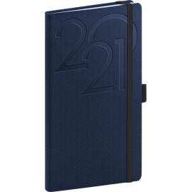 Vreckový diár Ajax 2021, modrý, 9 × 15,5 cm