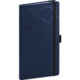 Vreckový diár Ajax 2022, modrý, 9 × 15,5 cm