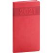 Vreckový diár Aprint 2021, červený, 9 × 15,5 cm