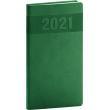 Vreckový diár Aprint 2021, zelený, 9 × 15,5 cm