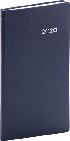 Vreckový diár Balacron 2020, tmavomodrý, 9 x 15,5 cm